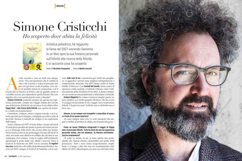 Sempre Magazine 4 2021 Simone Cristicchi