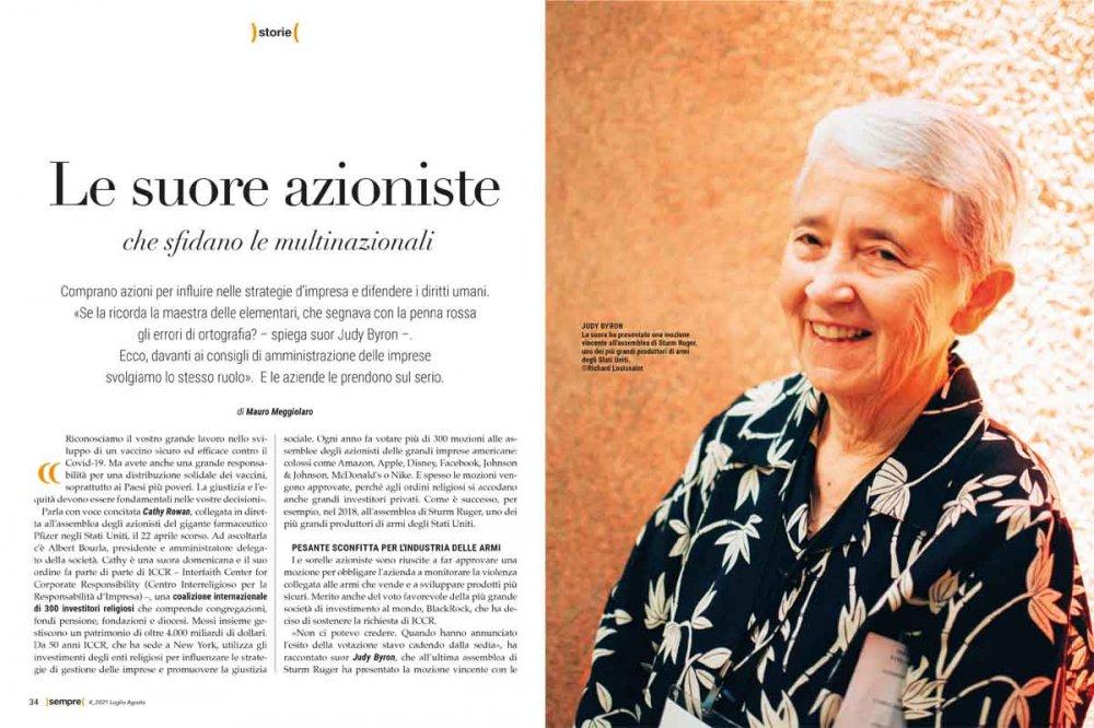 Sempre Magazine 4 2021 Suore azioniste