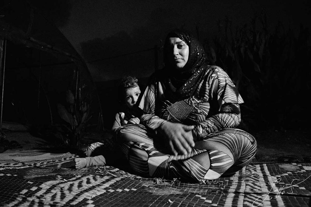 In tenda nel campo profughi di Akkar