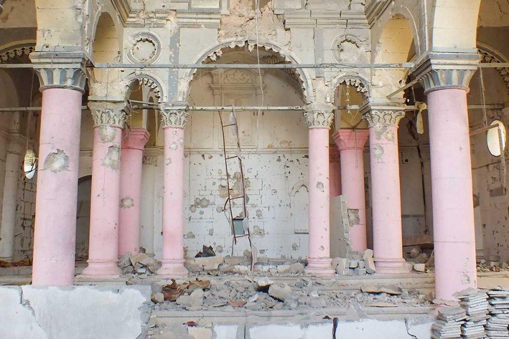 Chiesa distrutta a Mosul