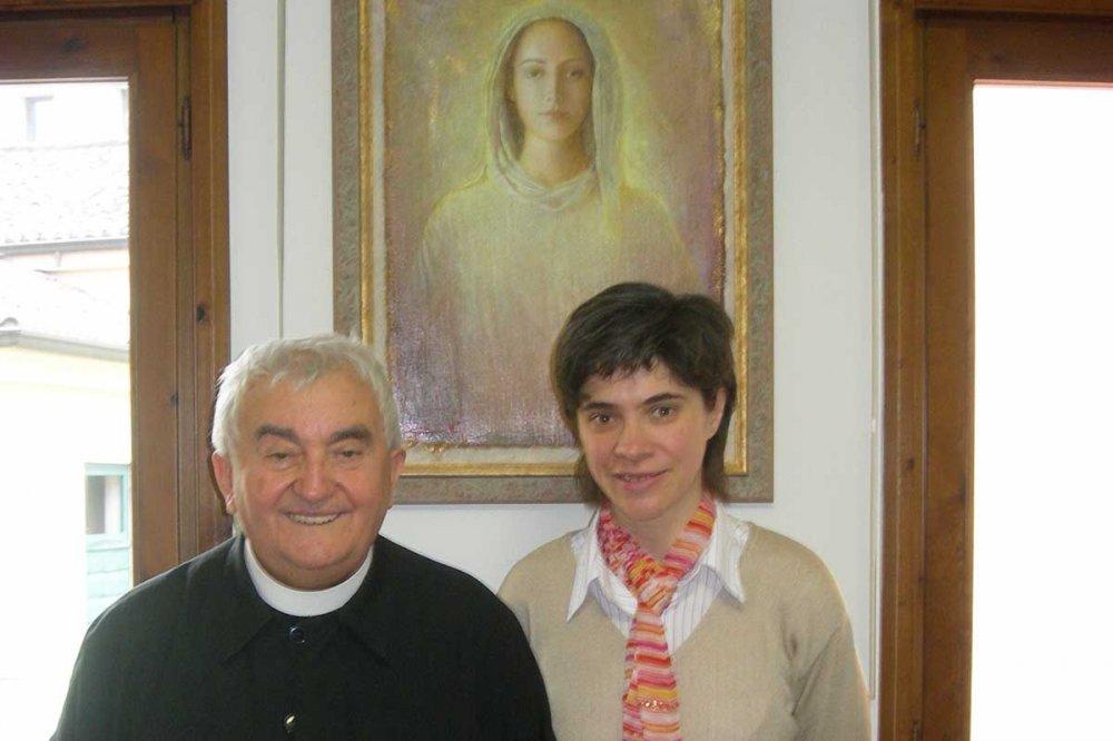 Don Oreste Benzi con Viviana Viali