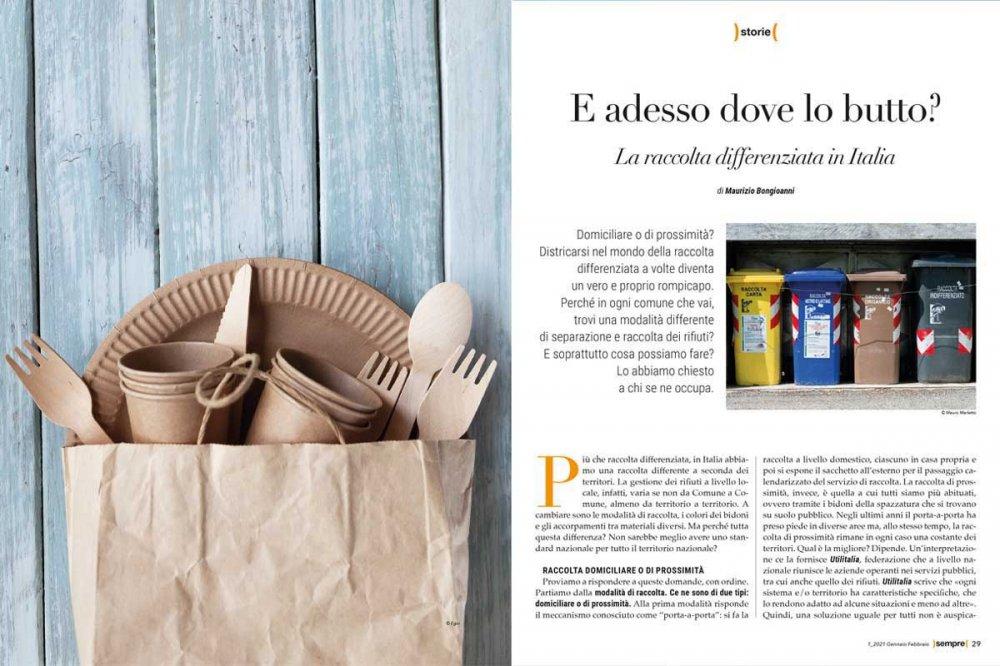 Articolo raccolta differenziata Sempre Magazine