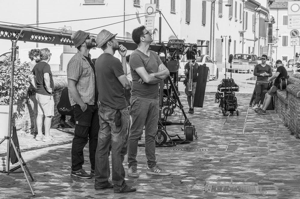 Kristian Gianfreda sul set del film Solo Cose Belle