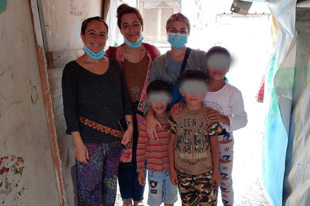 Famiglia siriana in Libano