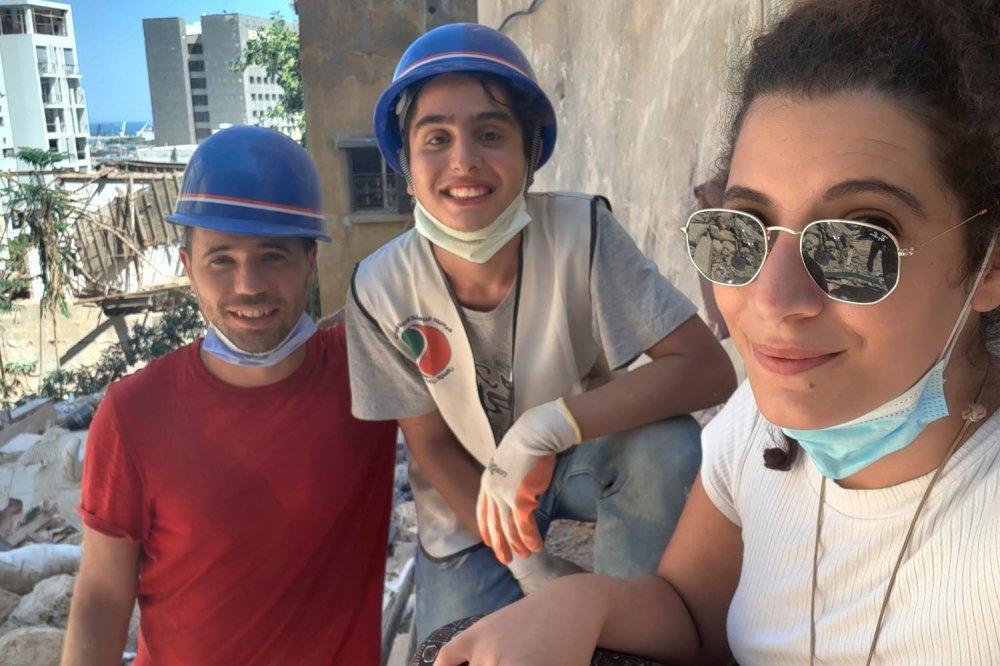 Volontari di Operazione Colomba in Libano, foto di gruppo