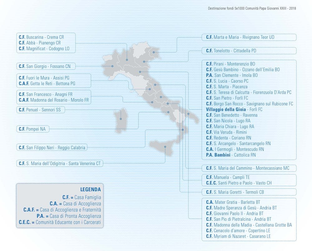 Mappa fondi 5x1000