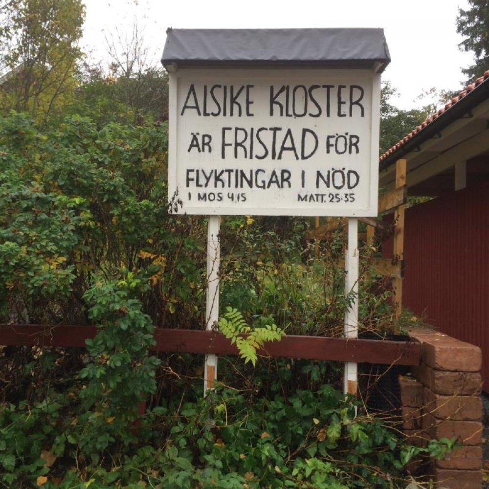Cartello al convento di Alsike
