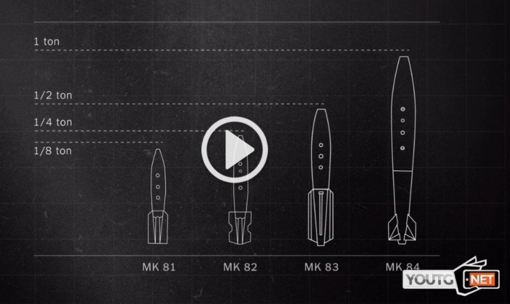 Frame con disegni di missili tratto da un filmato di youtg.net
