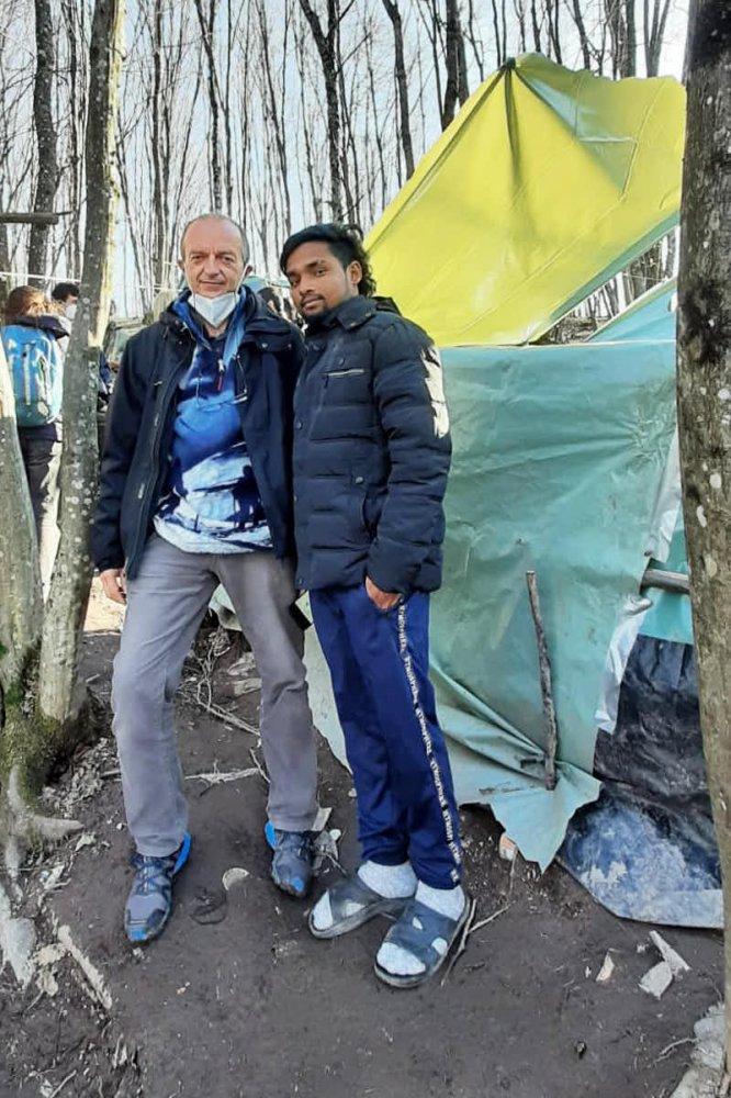 Incontro con migrante in Bosnia