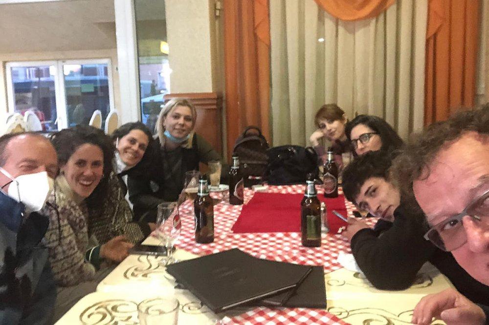 Il gruppo in visita nei balcani