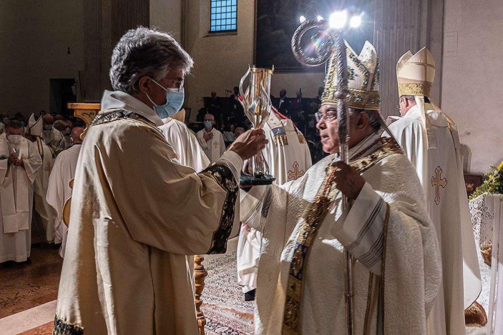 Cardinale Marcello Semeraro alla cerimonia di beatificazione di Sandra Sabattini
