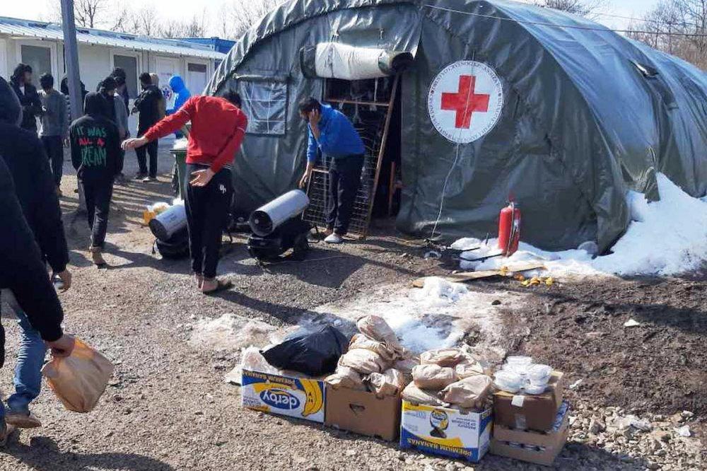 Tenda della Croce Rossa