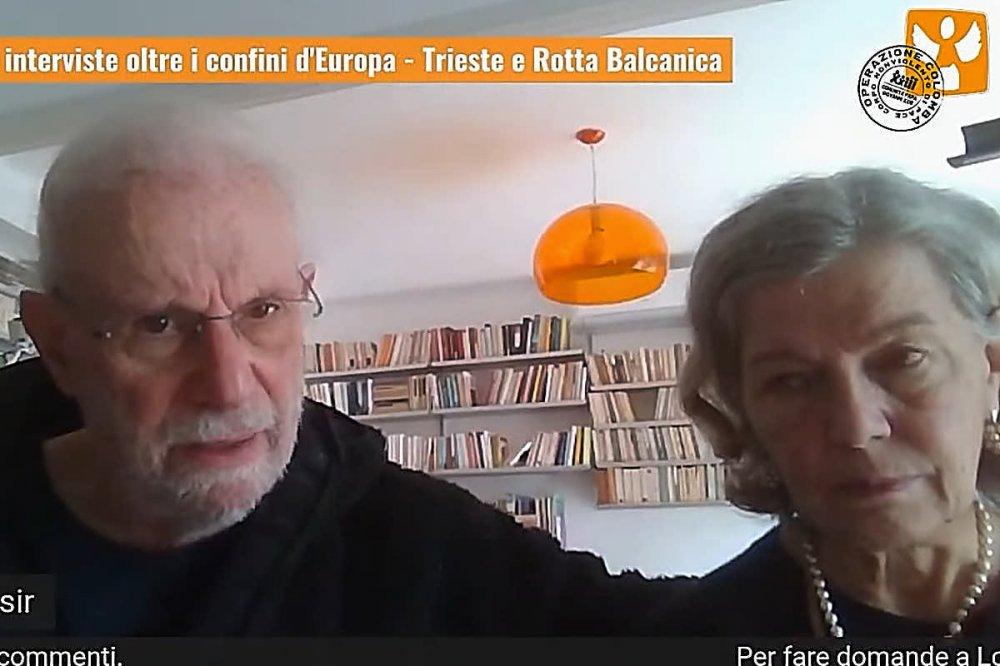 Gian Andrea Franchi e Lorena Fornasir, frame dal collegamento