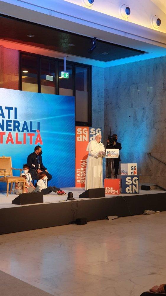 Papa Francesco parla agli Stati Generali della Natività